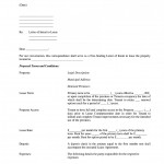 Lease Letter Of Intent